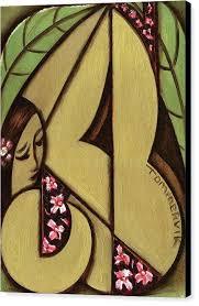 hawaiian wall art abstract tropical woman wall art print hawaiian islands chain wall art