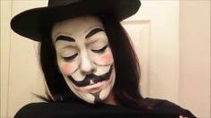 amazing v for vendetta makeup transformation video i thought this was a mask just looking at the thumbnail love the v for vendetta what a great
