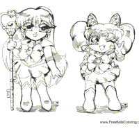 Small Picture Anime Coloring Pages Surfnetkids