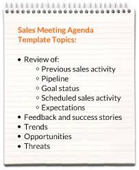 how to make a agenda sales meeting agenda templates