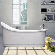 freestanding bath modern bathroom gloss white luxury acrylic bathtub no seattle