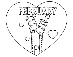 Small Picture February Coloring Pages Photo Gallery For Website February