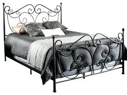 Wrought Iron Bed Frame Queen Metal Bed Frame Queen Black Antique ...