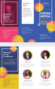 Brochure Design Ideas For School Project Free Conference Brochure Email Design Inspiration