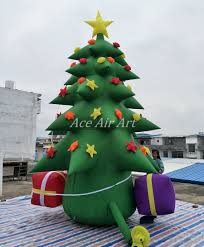 Inflatable Christmas Tree With Lights Us 525 0 Inflatable Christmas Tree Led Outdoor Inflatable Christmas Decoration Christmas Tree For Party In Party Backdrops From Home Garden On