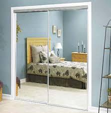 home depot mirror closet doors with white trim board for modern closet idea