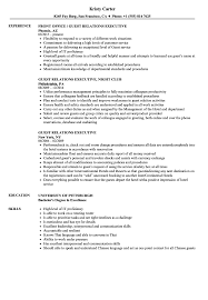 Guest Relation Executive Resume Guest Relations Executive Resume Samples Velvet Jobs 1