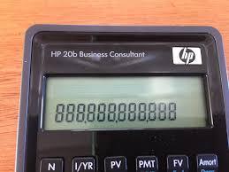 Financial Calculator Hewlett Packard Hp20b Financial Calculator Big Brother To The Very Popular Hp10