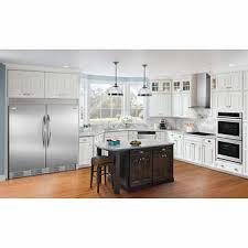 white fridge in kitchen. frigidaire gallery 18.5 cu.ft stainless steel fridge and freezer bundle white in kitchen