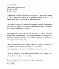 sample professional journalism cover letter professional covering letter