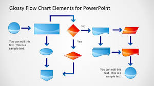 3d Flow Chart Powerpoint Glossy Flow Chart Template For Powerpoint