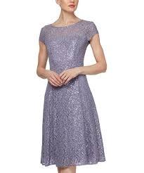 Slny Mystic Heather Sequin Lace A Line Dress Women