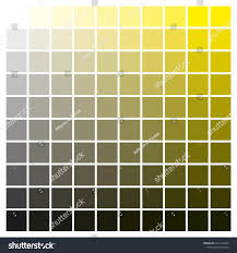 Yellow Cmyk Color Chart Cmyk Color Chart Use Prepress Printing Stock Vector Royalty