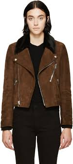 gallery previously sold at ssense women s collarless leather jackets women s anorak jackets women s brown suede