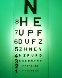 Eye Chart Poster View Of A Snellen Eye Test Chart 1 Poster