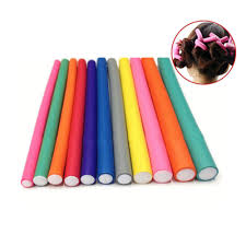 Pinkiou 42 Pack Twist Flex Rods 7 Sizes Flexible Curl Sponge Flexi Hair Roller Set Hair Foam Curler Hot Roller Set Random Color