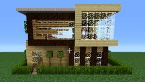 Modern Wood House Minecraft 360 Modern House Tutorial House Number 3 Youtube