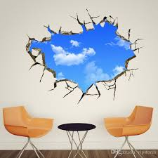 3 d wall art creative 3d wall decals blue sky write cloud wall  on wall art writing decor with 3 d wall art gecce tackletarts
