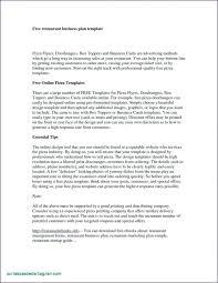 Business Plan For Restaurant Example Restaurant Business Plan