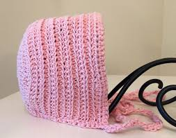 Crochet Patterns Baby Best Crochet Pattern Ribbed Vintage Baby Bonnet with Flower