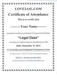 Attendance Certificate Template Template Ceu Certificate Template Attendance Certificates Free 9