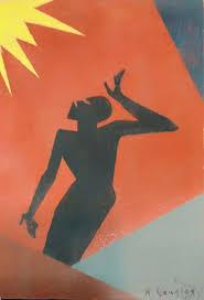 "Aaron Douglas - ""Listen Lord"" 1925 | Black artists, Art for art sake, Art"