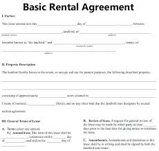 free lease agreement word doc basic rental agreement form basic rental agreement in a word