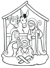 Manger Scene Coloring Page Nativity Scene Coloring Pages Mandala
