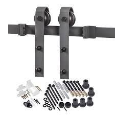matte black top mount barn door kit