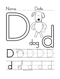 Small Picture letter d worksheet dog coloring page Preschool Crafts