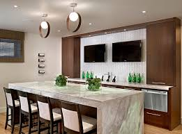 modern basement bar ideas.  Ideas Contemporary Basement Bar With Cool Lighting Design Wood Inc And Modern Basement Bar Ideas A