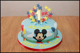 Mickey Mouse First Birthday Cake Lucienne Curmi Flickr