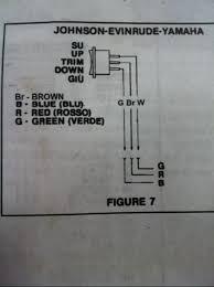 1982 evinrude 75hp tilt trim wiring help page 1 iboats boating mercury tilt trim gauge wiring diagram at Tilt And Trim Gauge Wiring Diagram