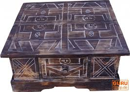 hand carved floor table coffee table