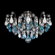 schonbek renaissance rock crystal 8 light semi flush mount reviews wayfair