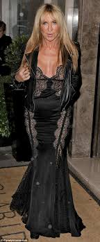 leather and lace meg mathews arrived for a charity event in london and looked sensational
