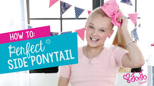 how to create the perfect jojo siwa side ponyl hair tutorial claire s you
