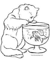 Small Picture cat kitty animal pet drawing Coloring pages Pinterest