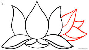 Small Picture How to Draw Lotus Flower Step by Step Pictures Cool2bKids
