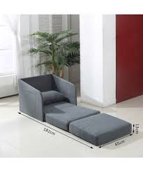 homcom faux suede single sofa bed w