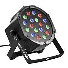 Eyourlife 18X3W Led Par Can Disco lights 54W RGB PAR64 DMX ...