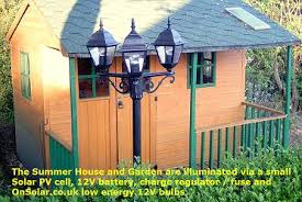 summer house lighting. Solar Powered Garden Lighting Summer House E