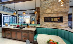 Two tone cabinets Trend Wood Homedit 20 Kitchens With Stylish Twotone Cabinets