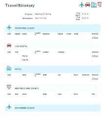 Itinerary Travel Template Planner Template Microsoft Word Itinerary Travel Voipersracing Co