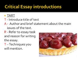 critical essay introductions ppt  critical essay introductions