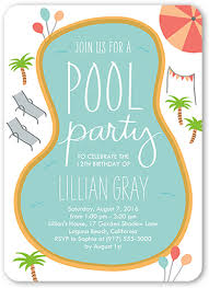 invitation for a party birthday pool party 5x7 boy birthday invitations shutterfly