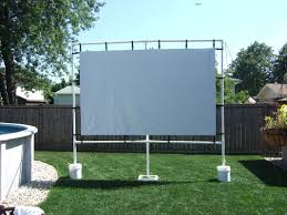 outdoor screen made with gemmy avs forum home theater 18 diy backyard projector