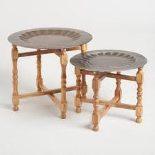 patio furniture for small spaces. metal and wood arya table set of 2 patio furniture for small spaces