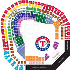 Texas Rangers Stadium Chart Printable Texas Rangers Seating Chart Game Packs