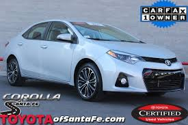 Certified Pre-Owned 2016 Toyota Corolla S Plus Sedan in Santa Fe ...